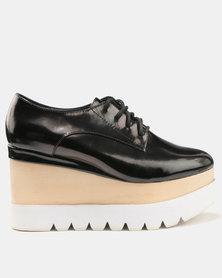 Jeffrey Campbell Berliner Platform Oxford Sneakers Black