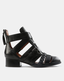 Jeffrey Campbell Level Up Boots Black Leather