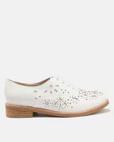 Jeffrey Campbell Danica Oxford Leather Shoes White