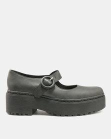 Jeffrey Campbell Marja Mary Jane Wash Leather Black