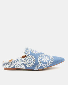 Jeffrey Campbell Sarika Loafers Lace Denim Blue