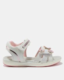 Bubblegummers Girls Sandals White