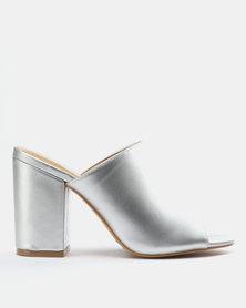 Bata Ladies Block Heel Sandals Pewter