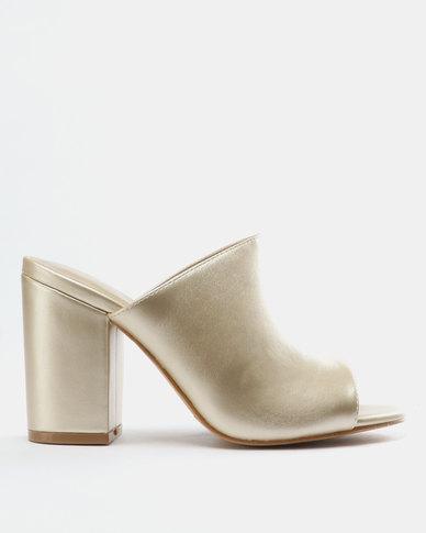 Bata Gold Sandals Heel Ladies Block tQxshrdC