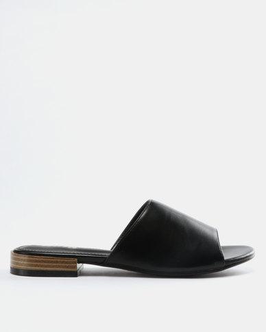 Sandals Balck Ladies Bata Metallic Flat D9WH2IYE