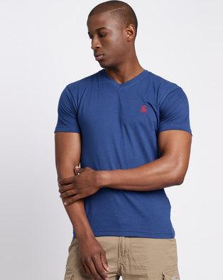 280b313a35c94f Cutty CCable Mens T Shirt Petrol Blue