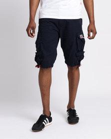 Cutty CMortar Multi Pocket Shorts Ink Blue