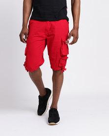 Cutty CMortar Multi Pocket Shorts Red