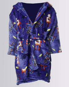 Utopia Kids Robot Hooded Gown Blue