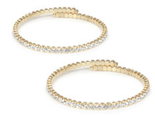 Lambretta Women's Gold Bangle Set of Two - 3mm