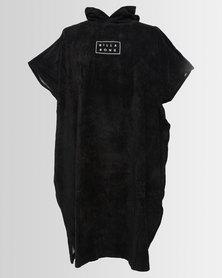 Billabong Mens Hoodie Towel Black