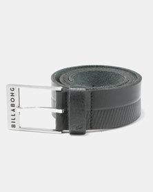 Billabong Helmsman Leather Belt Black Grain
