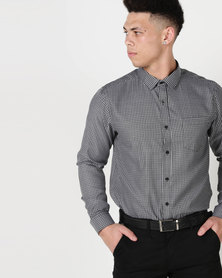 Process Black Quad Check Shirt Black