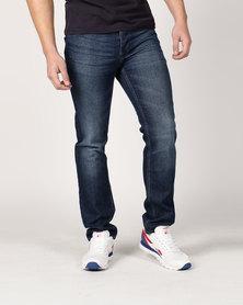 Crosshatch Janson Jeans with Belt Medium Wash