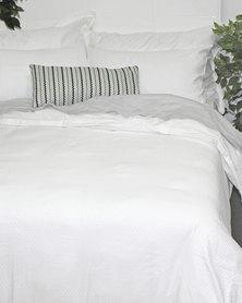 Sheraton Sloan Jacquard 300T Duvet Cover Set White