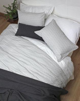09abd9dca8b Sheraton Aurora European Collection 100% Cotton Jacquard Duvet Cover Set  Grey