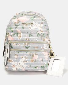 Steve Madden BMidi Logog Backpack Grey Floral
