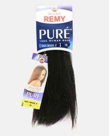 "MilkyWay Pure Remy Pure Yaky Weave 100% Human Hair 8"" - 1B Off Black"