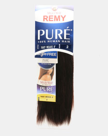 "MilkyWay Pure Remy Pure Yaky Weave 100% Human Hair 8"" - 2 Dark Brown"