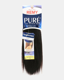 "MilkyWay Pure Remy Pure Yaky Weave 100% Human Hair 10"" - 1B Off Black"