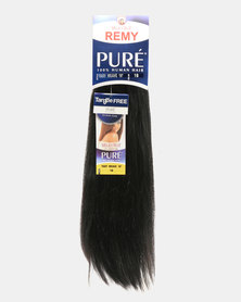 "MilkyWay Pure Remy Pure Yaky Weave 100% Human Hair 16"" 1B Off Black"