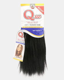 "MilkyWay Pure Que Yaky Weave 100% Human Hair 8"" 1 Jet Black"
