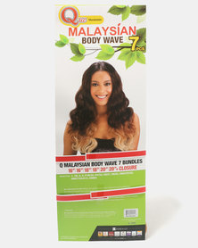Que Malaysian Body Wave Weave 7 Piece Bundle Ombre OM2730613