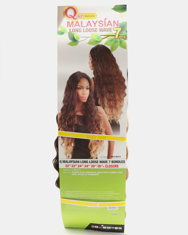 Que Malaysian Long Loose Wave Weave 7 Piece Bundle OM2730613