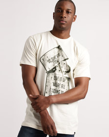 DC Dead Above Short Sleeve Tee Antique White