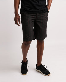 DC Macker Walkshorts Check Black