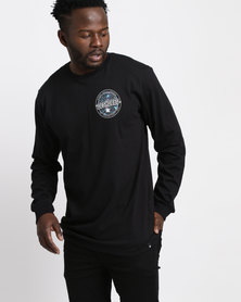 DC Badge Side Long Sleeve Tee Black
