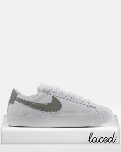 Nike Women s Blazer Low LE Basketball Sneakers White Dark Stucco  de71b10fb