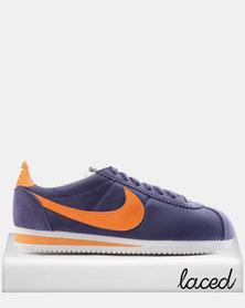 Nike Classic Cortez Nylon Dark Purple Dust/Bright Mandarin-White