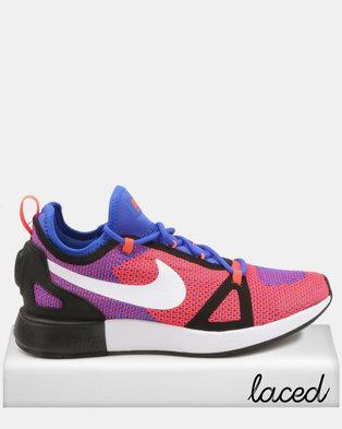 low priced 57c14 2b353 Nike Duel Racer Racer Sneakers Blue White-Total Crimson-black
