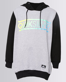 Quiksilver Sundown Boys 2 Hoodie Steelgrey Melange Black