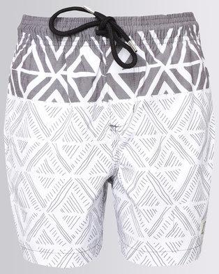 Quiksilver Muchacho 15 inch Boys Shorts White & Grey