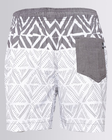 67312cc5f9 Complete the look. Quiksilver Muchacho 15 inch Boys Shorts White & Grey ...