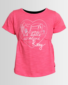 Roxy Lets Drive Away T-Shirt Teaberry Pink