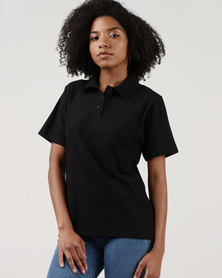 Ultimate T Classic Pique Knit Polo Black