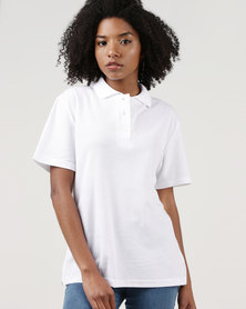 Ultimate T Classic Pique Knit Polo White