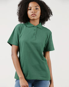 Ultimate T Classic Pique Knit Polo Bottle Green