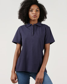 Ultimate T Classic Pique Knit Polo Navy