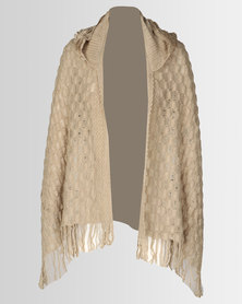 Joy Collectables Open Poncho Beige