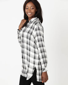 Holly Blue Check Overshirt Mono