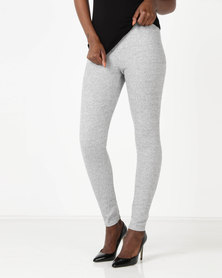 Holly Blue Seamless Leggings Melange Grey