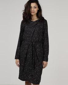 Jenja Soft Collar Dress Speckle Print