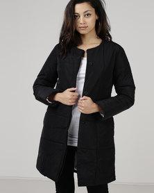Jenja Quilted Coat Black