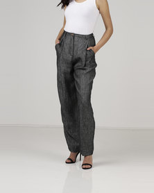 Jenja Deep Pleat Pants Charcoal
