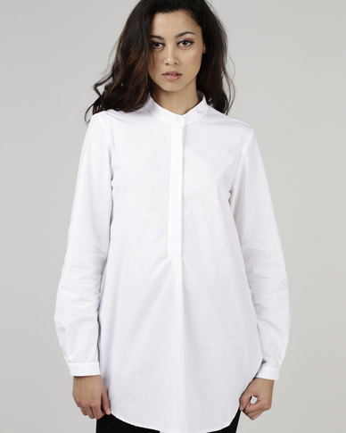 Jenja Mandarin Shirt White