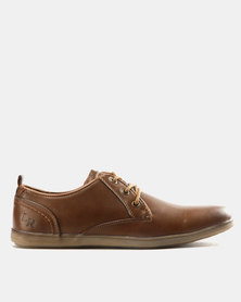 Luciano Rossi PU Plimsoll Shoes Tan